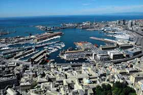 Genoa Seaport Italy